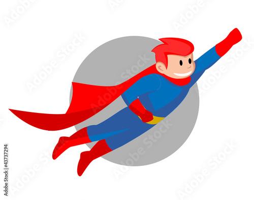 Autocollant pour porte Super heros Super Hero