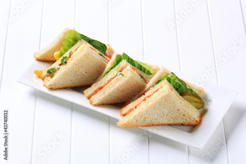 Staande foto Snack Vegetable Sandwiches
