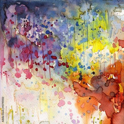 Wall Murals Painterly Inspiration Artystyczne tło akwarelowe,