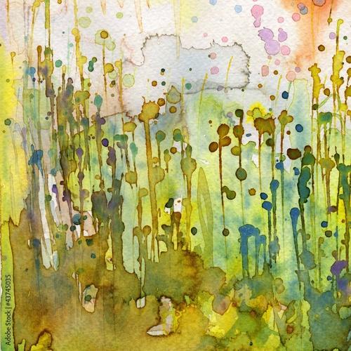 Photo Stands Painterly Inspiration Artystyczne tło akwarelowe,
