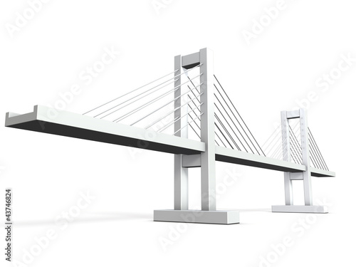 Architectural models of cable-stayed bridge