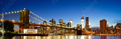 Foto auf Leinwand Brooklyn Bridge NYC Brooklyn Bridge Panorama