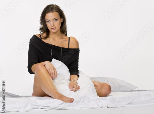 Juliste  Brunette Model in Lingerie
