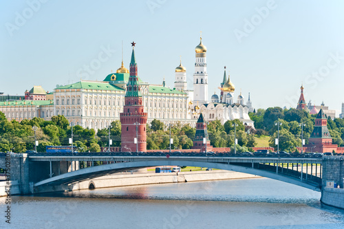 Photo  The Kremlin, Moscow, Big Stone Bridge, Palace and Cathedrals