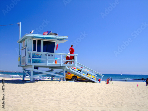 Foto-Leinwand - Los Angeles Beach