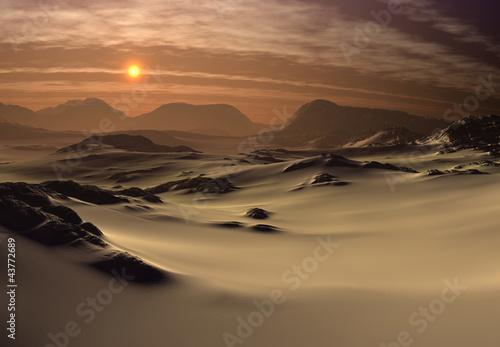 Marron chocolat Fantasy Landscape - Desert