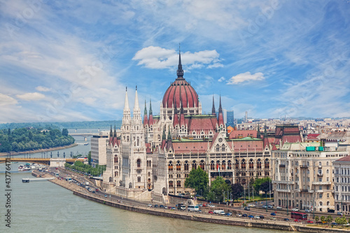Hungary, Budapest, view of Sacred Stephane's basilica Poster