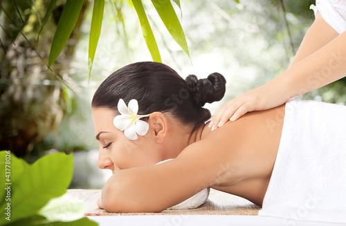 Doppelrollo mit Motiv - massage