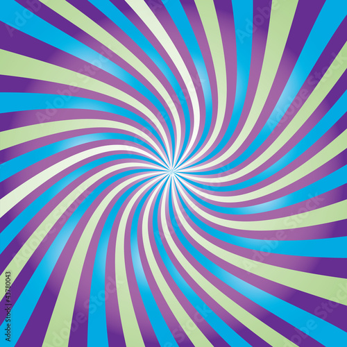 Poster Psychedelic Colored rays