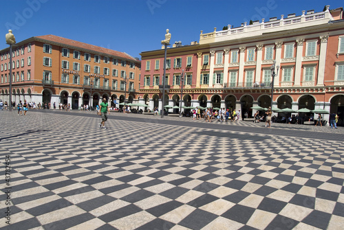 Papiers peints Nice Central Square - Place Massena in Nice, France