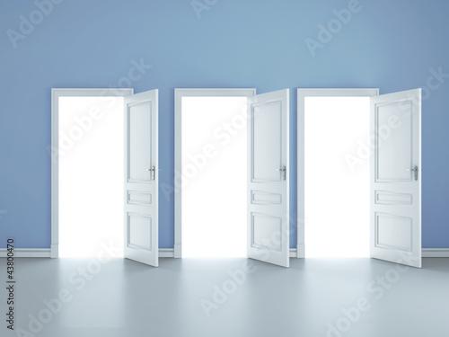 Photo three open doors