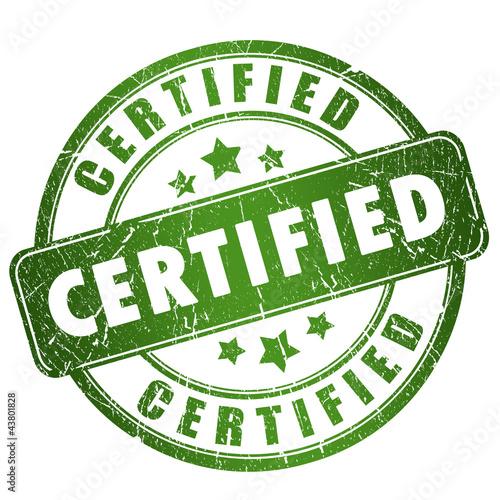 Fototapeta Certified grunge stamp obraz na płótnie