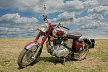 Classical Red  Motorcycle