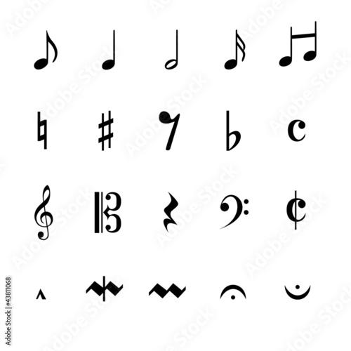 Autocollant - Musik Noten Zeichen