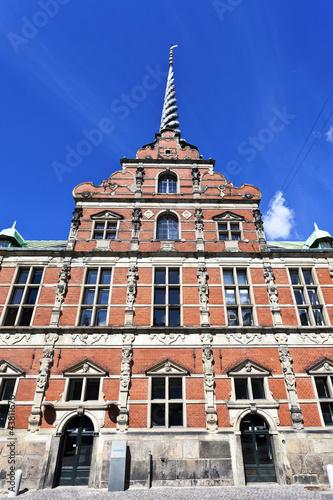 Facade of the Borsen - Stock exchange in Slotsholmen, Copenhagen Poster