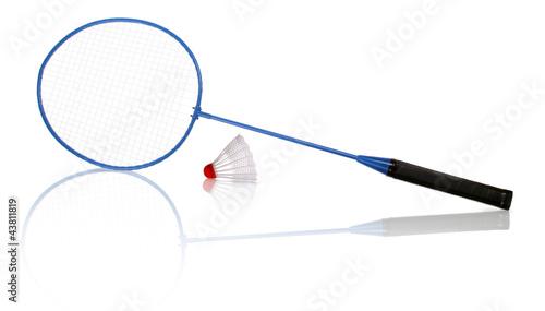 Obraz Badminton racket and shuttlecock - fototapety do salonu