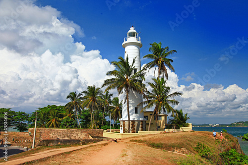 travel in Sri lanla, Galle, lighthouse Fototapet