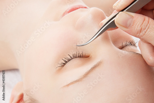 Fotografie, Obraz  Eyelash extension