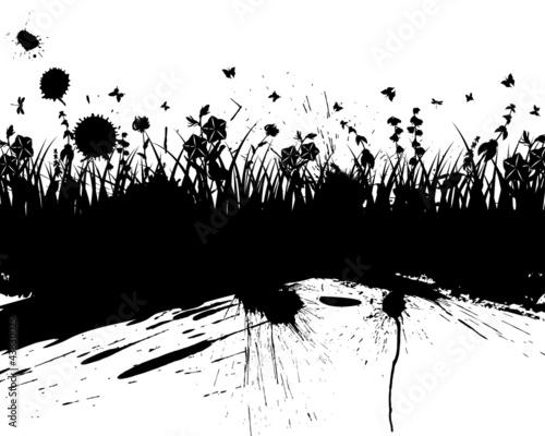 Photo sur Toile Papillons dans Grunge grunge vector background