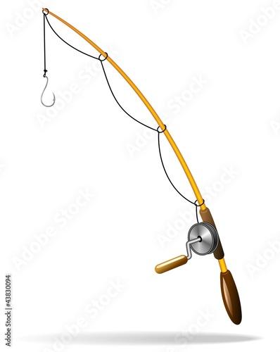 Door stickers Draw Canna da Pesca-Fishing rod-Vector