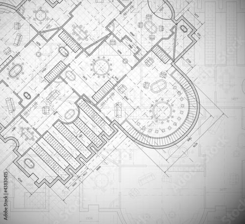 Fotografie, Tablou Architectural plan