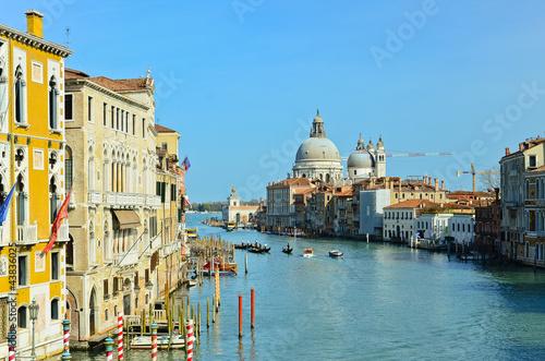 Fotobehang Venetie Grand Canal and Basilica Santa Maria della Salute