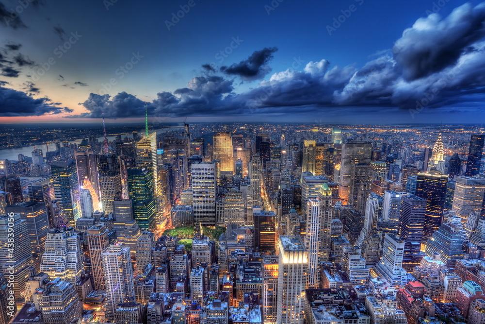 Fototapety, obrazy: New York by night.