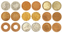 Collection Of Old Indian Coins...