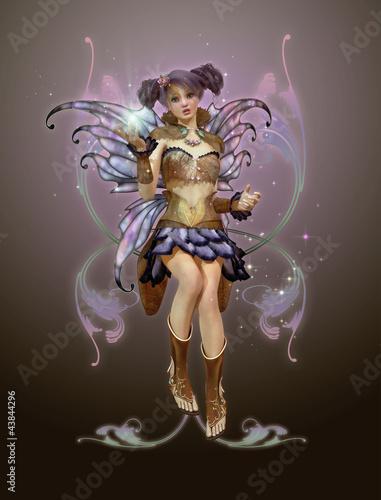La pose en embrasure Fées, elfes November Pixie