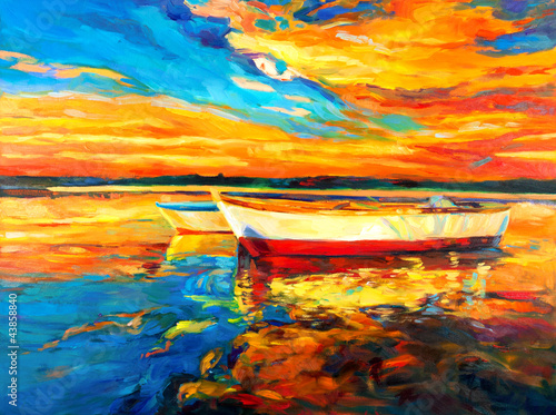 Foto-Kissen - Boats (von Boyan Dimitrov)