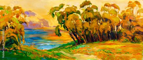 Nowoczesny obraz na płótnie Landscape