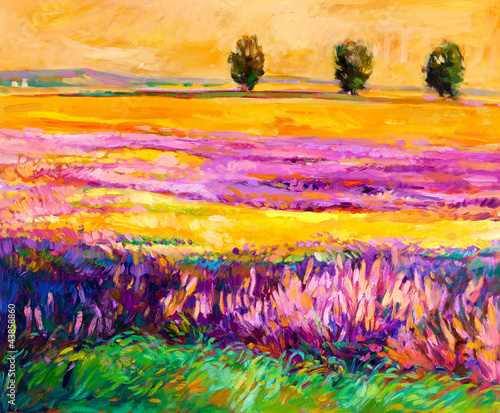 Canvas Prints Honey Landscape