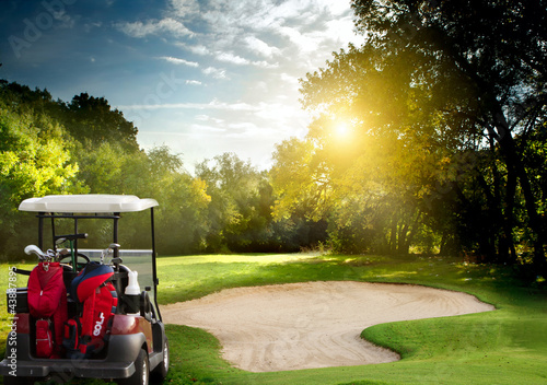 Photo sur Toile Golf Golf cart