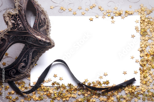 horizontal party still life with blank paper for your text Wallpaper Mural