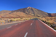 Red tarmac mountain road, Tenerife