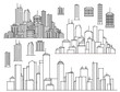 City and elements for design.