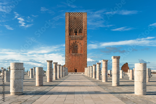 Canvas Prints Morocco Tour Hassan tower square in Rabat Morocco