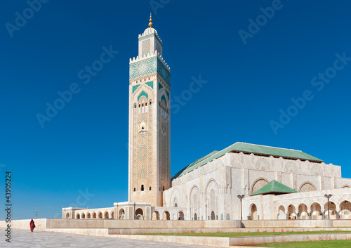 Fotografie, Obraz  Hassan II Mosque Casablanca Morocco side view