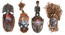 Traditional Wooden Handmade African Masks