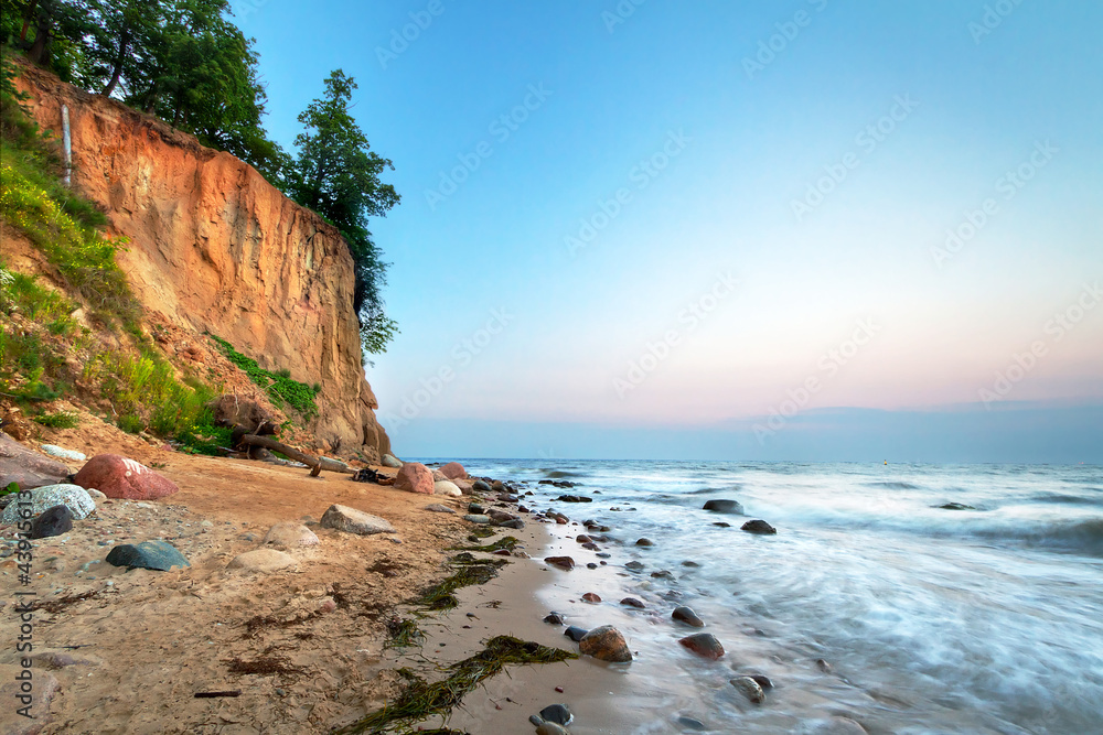 Fototapeta Cliff of Orlowo at Baltic sea, Poland