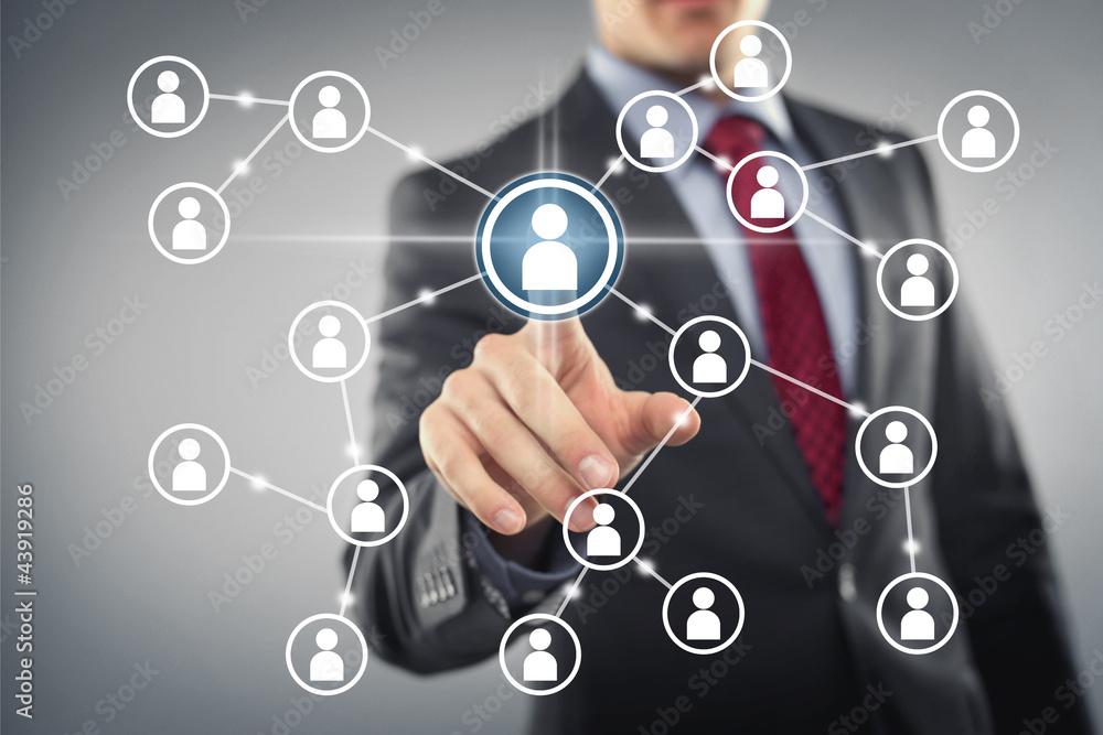 Fototapeta Social Network Interface