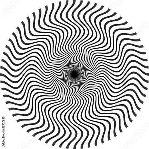 Wall Murals Psychedelic optische Illusion rund