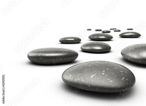 Doppelrollo mit Motiv - Galets décoratifs. Decorative pebbles