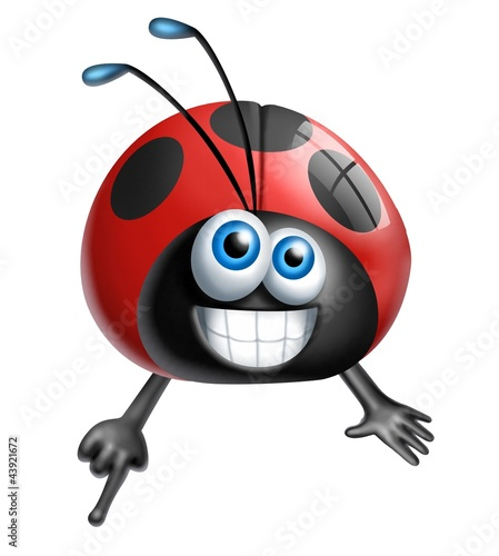 Canvas Prints Ladybugs coccinella dito