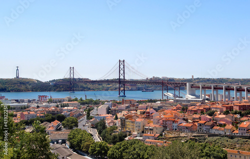 Lisbon, Portugal, 25th of April Bridge Wallpaper Mural
