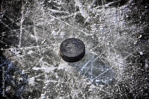 Photo  Eishockey Puck