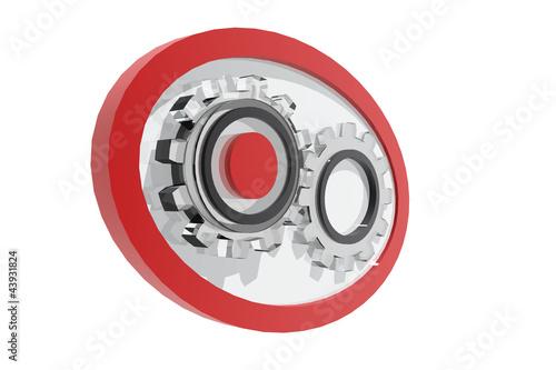 Photo  Logotipo con piezas de engranaje