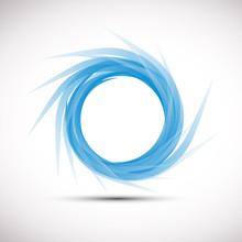 Blue Vortex Background # Vector