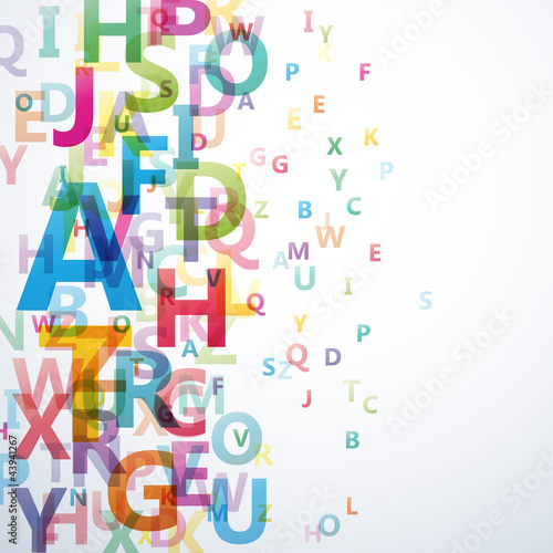 Fotografie, Obraz  Abstract Colour Alphabet on white background # Vector