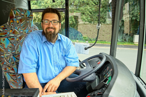 Foto  Laughing Bus Driver